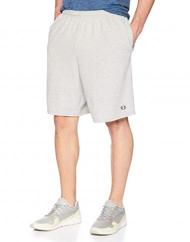 Champion Men's Cotton 9 Inch Shorts Grey S