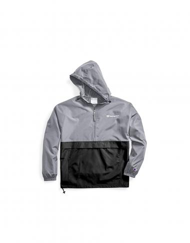 Champion Mens Packable Jacket Grey/Black S